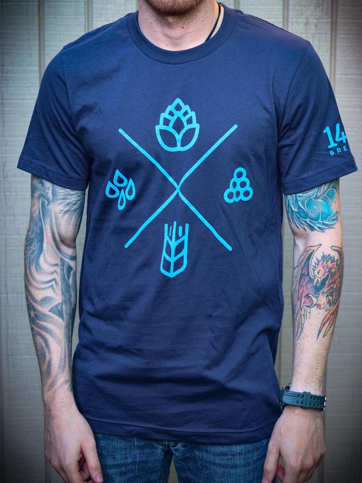1487 Brewery Navy Blue Tee Shirt