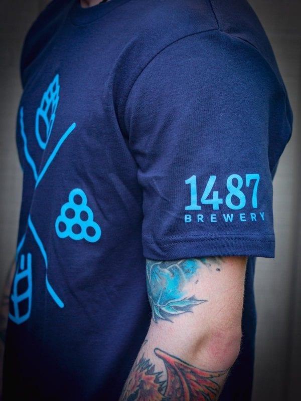 Navy Blue Tee Shirt 1487 Brewery