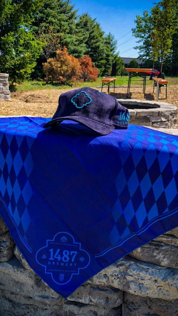 1487 Brewery Navy Blue Suede Hat