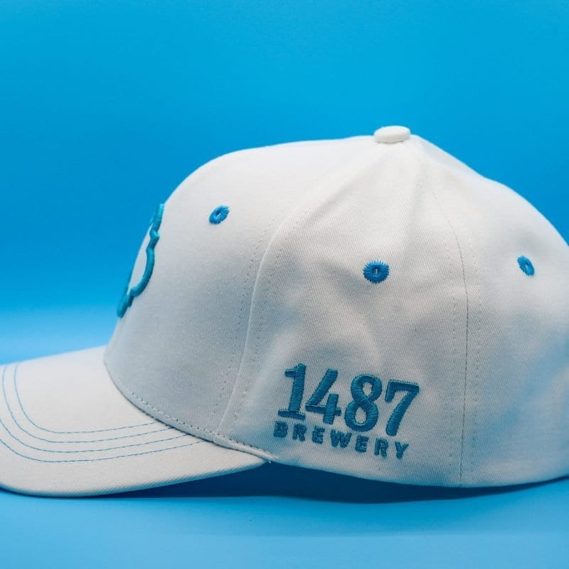 1487 Brewery White Cotton Hat