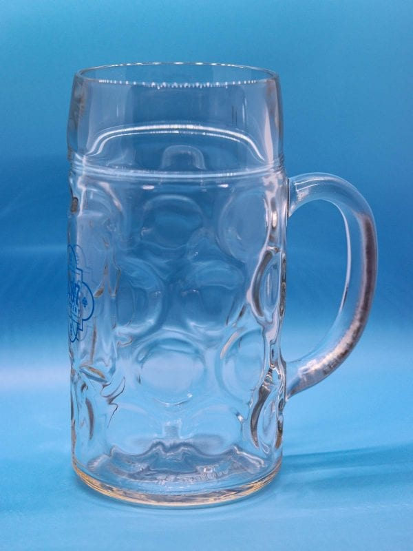 German Oktoberfest Mug - 1-liter Glass 1487 Brewery