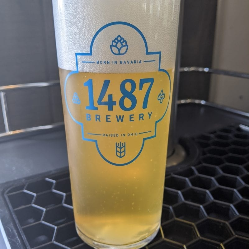 Kolsch Glass 1487 Brewery