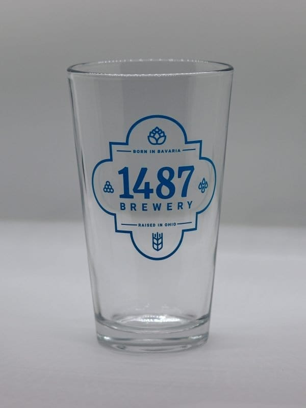 1487 Brewery Pint Glass 16oz.