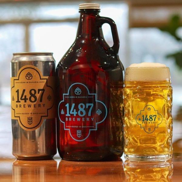 1487 Brewery Helles Lager Crowler & Growler