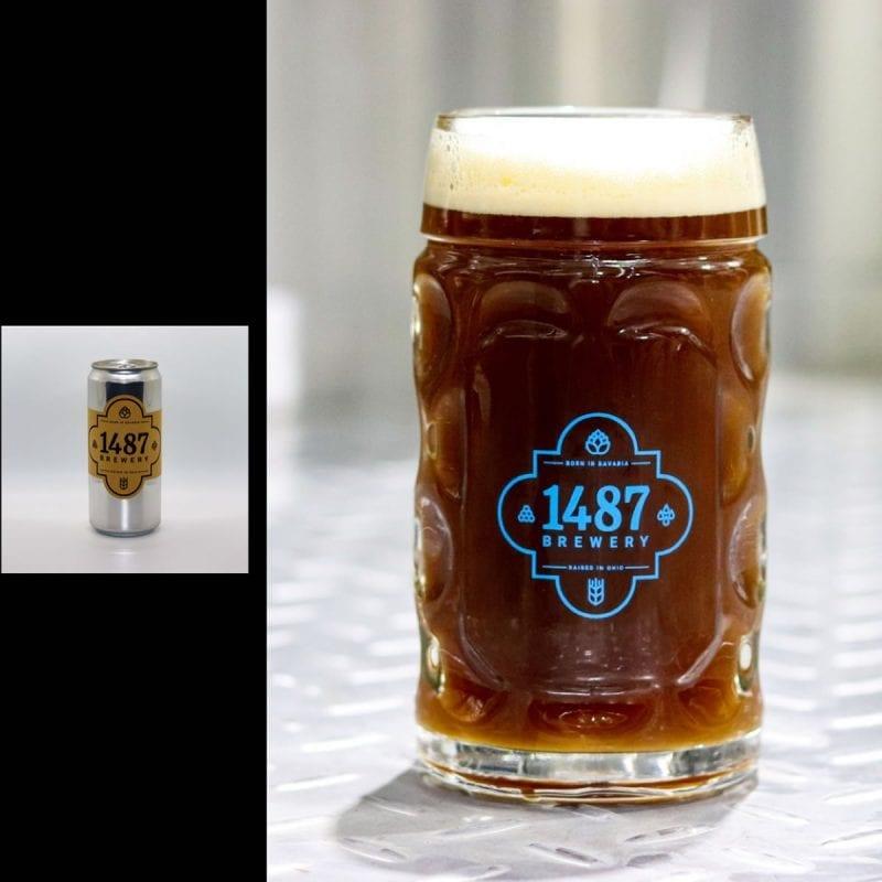 1487 Brewery Dunkelweizen 32oz Crowler
