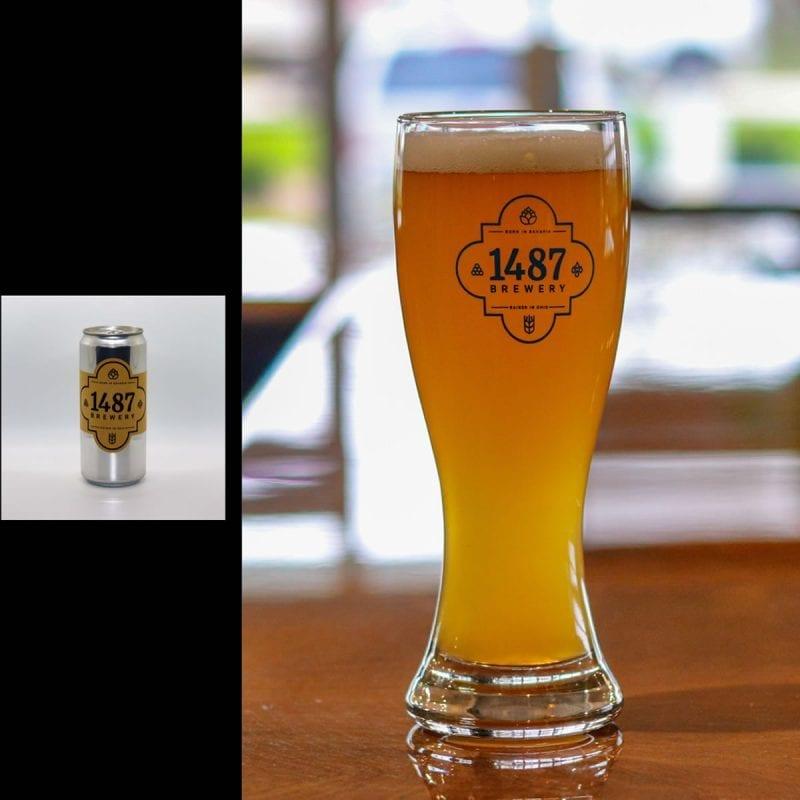 1487 Brewery Hefeweizen 32oz Crowler