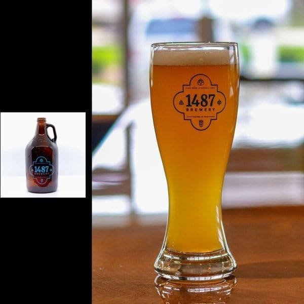 1487 Brewery Hefeweizen 64oz Growler