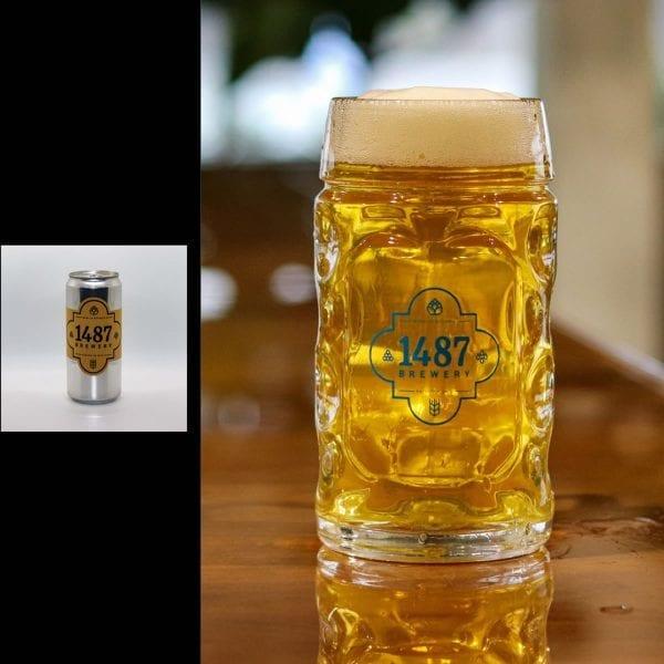 1487 Brewery Helles Lager 32oz Crowler