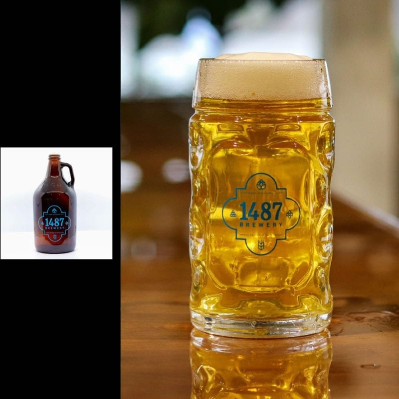 1487 Brewery Helles Lager 64oz Growler