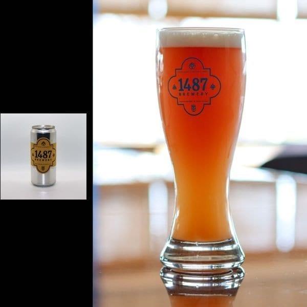 1487 Brewery Raspberry Weiss 32oz Crowler