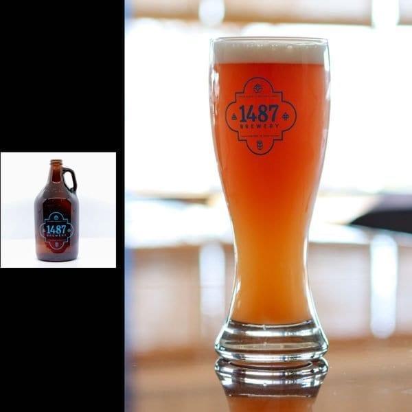 1487 Brewery Raspberry Weiss 64oz Growler