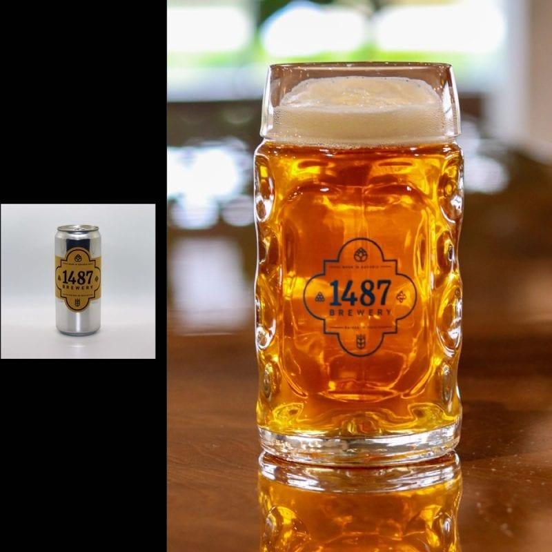 1487 Brewery Vienna Lager 32oz Crowler