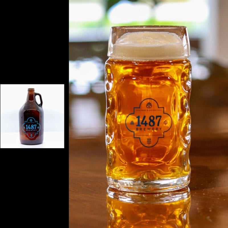 1487 Brewery Vienna Lager 64oz Growler