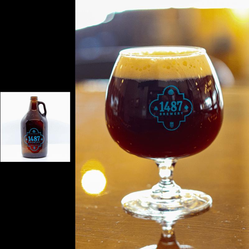 1487 Brewery Dopplebock 64oz Growler